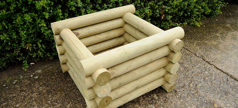 Mobiliario jardin madera